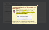 1 Minute List Builder WP plugin